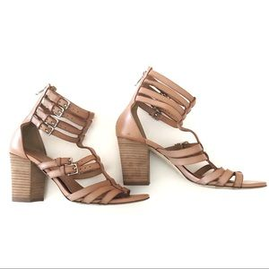 J.Crew T-Strap Gladiator High-Heeled Sandals